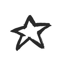 Black ink star vector