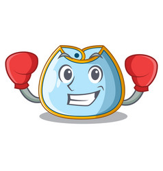 Boxing character baby bib for feeding toddler vector