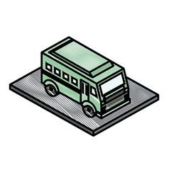 Bus transport isometric icon vector