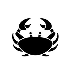 Cancer zodiac sign black glyph icon vector