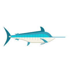 Cartoon swordfish or marlin icon vector