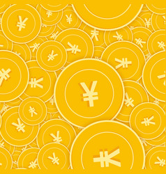 chinese yuan coins seamless pattern vector image
