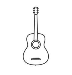 Classic guitar icon vector