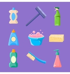 Cleaning and Housework Icons Collection vector image
