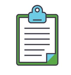 Clipboard to-do checklist concept line vector
