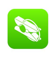 clothes pin icon green vector image