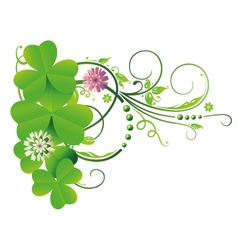 Clovers border vector