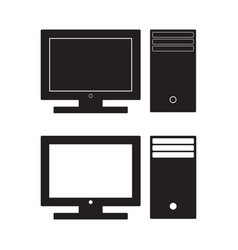 computer desktop icon pc flat sign vector image