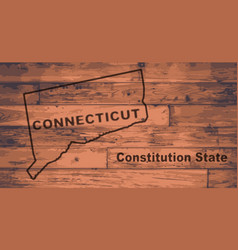 Connecticut map brand vector