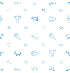 Cow icons pattern seamless white background vector