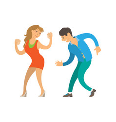 dancing people at party isolated dancers clubber vector image