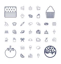 Dessert icons vector
