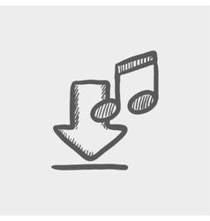 Download music sketch icon vector