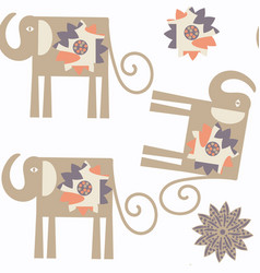 elephant cute seamless pattern it is located in vector image