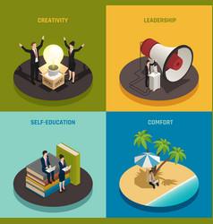 entrepreneur isometric design concept vector image