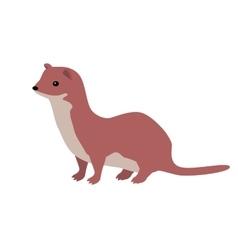 Ermine or Weasel Flat Design vector image
