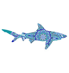 ethnic ornamental shark vector image