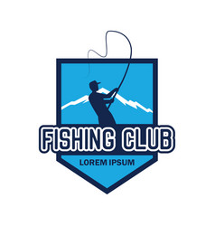 fishing logo with text space for your slogan vector image