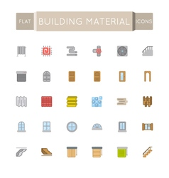Flat Building Material Icons vector image vector image