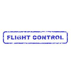 Flight control rubber stamp vector