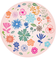 flower element decoration vector image