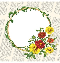 Flowers and newspaper vector