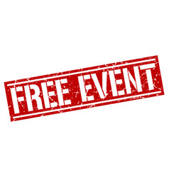 free event square grunge stamp vector image