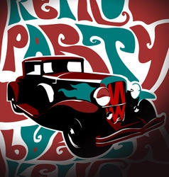 Funky retro car vector