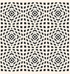Geometric checkered texture seamless pattern vector