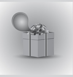 gift in gray tone vector image