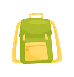 Green school backpack school education and vector