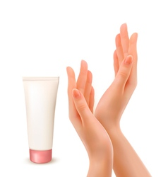 Hand cream tube vector