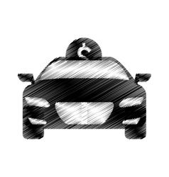 Hand drawing car save money coin icon vector
