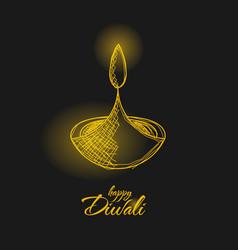 Hand drawn happy diwali design banner 02 vector