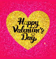 happy valentines day glitter design vector image