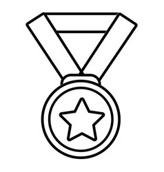 hockey champion medal icon outline style vector image