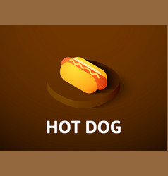 hot dog isometric icon isolated on color vector image