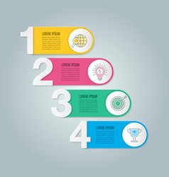 Infographic design business concept vector