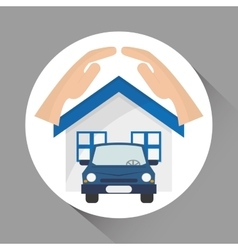 insurance icon design vector image