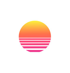 Isolated sunset gradient on white background vector