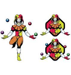joker jester mascot vector image