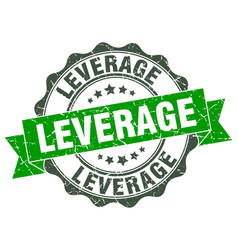 leverage stamp sign seal vector image vector image