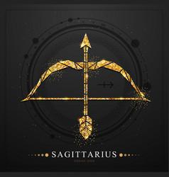 Magic witchcraft card with sagittarius sign vector