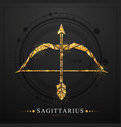 Magic witchcraft card with sagittarius zodiac sign vector