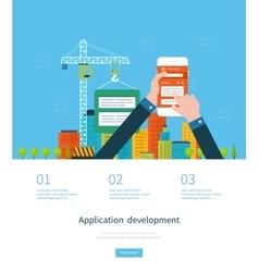Modern flat design application development concept vector image vector image