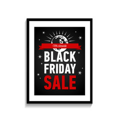 Night black friday sale poster sale -70 sitewide vector