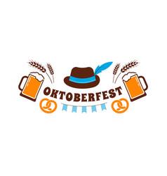 Oktoberfest flyer banner beer festival logo vector