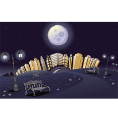 Park in the night vector image
