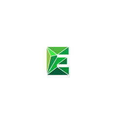 Polygonal trend letter e logotype color vector