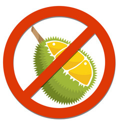 prohibition sign with durian vector image